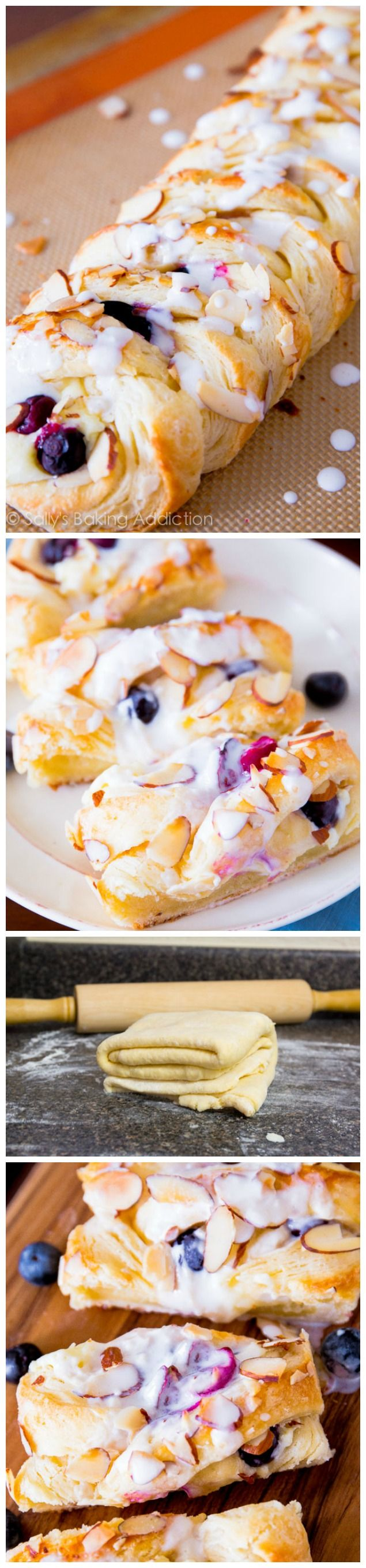 Homemade Blueberries 'n Cream Danish! Buttery, flaky, creamy, and SO simple with these easy instructions.