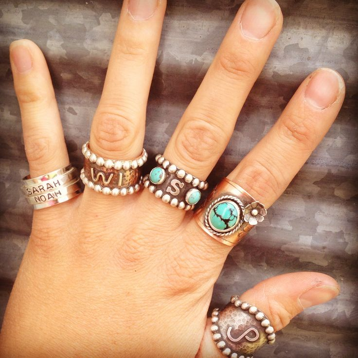 Love the one turquoise with flower ring