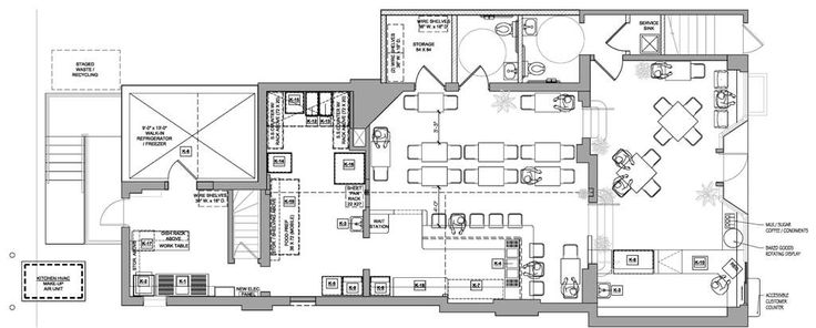 Bakery layouts and designs bakery floor plans home for Blueprints of restaurant kitchen designs