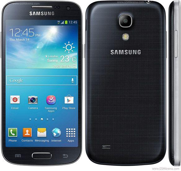 Red 3G HSDPA 850/900/1900/2100 - I9190, I9195, I9197 Red 4G LTE - I9195, I9197. SIM: Opcional Dual SIM. Pantalla táctil capacitiva Super AMOLED Memoria: micro SD, hasta 64 GB Interno: 8 GB (5 GB disponibles de usuario), 1,5 GB de RAM. USB: micro USB v2.0 Cámara: 8 MP, Secundario 1,9 MP. OS: Android OS, v4.2.2 (Jelly Bean), v4.3 (Jelly Bean), actualización planeada a v4.4.2 (KitKat). UPC: De doble núcleo a 1,7 GHz Krait GPU: Adreno 305