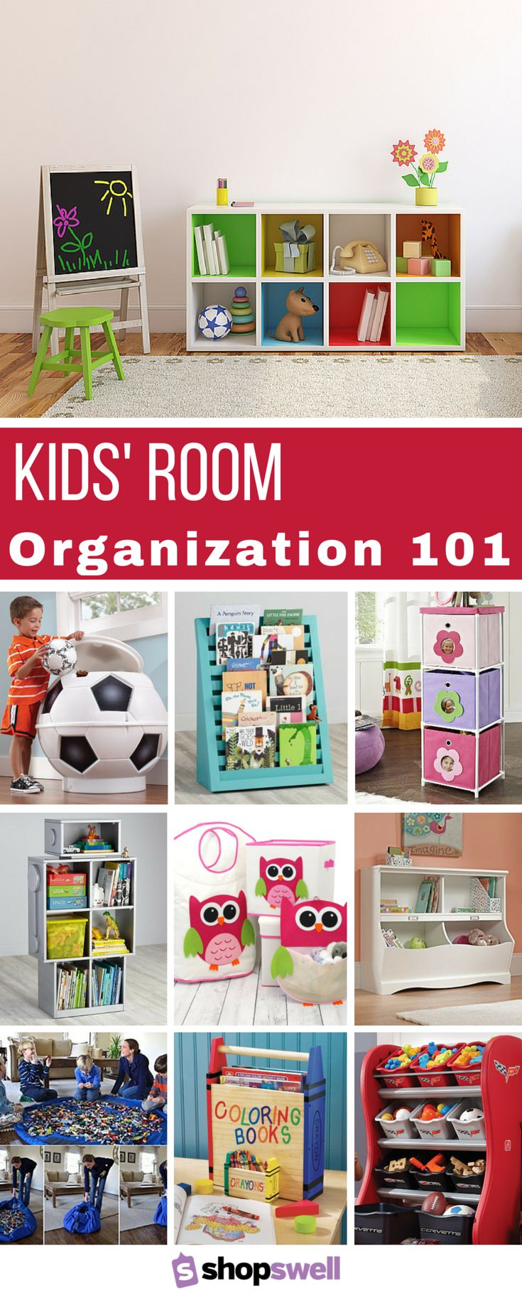 28 Awesome Ways To Organize Your Kids 39 Room Pinterest