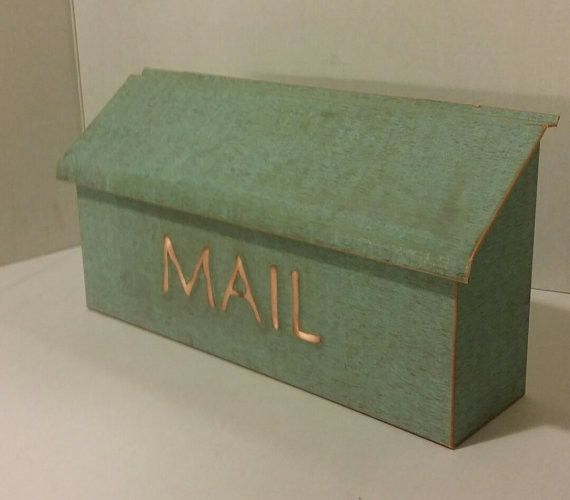 Embossed Green Patina Copper Mailbox