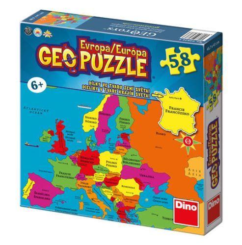 Geo puzzle Európa  58 dielkov