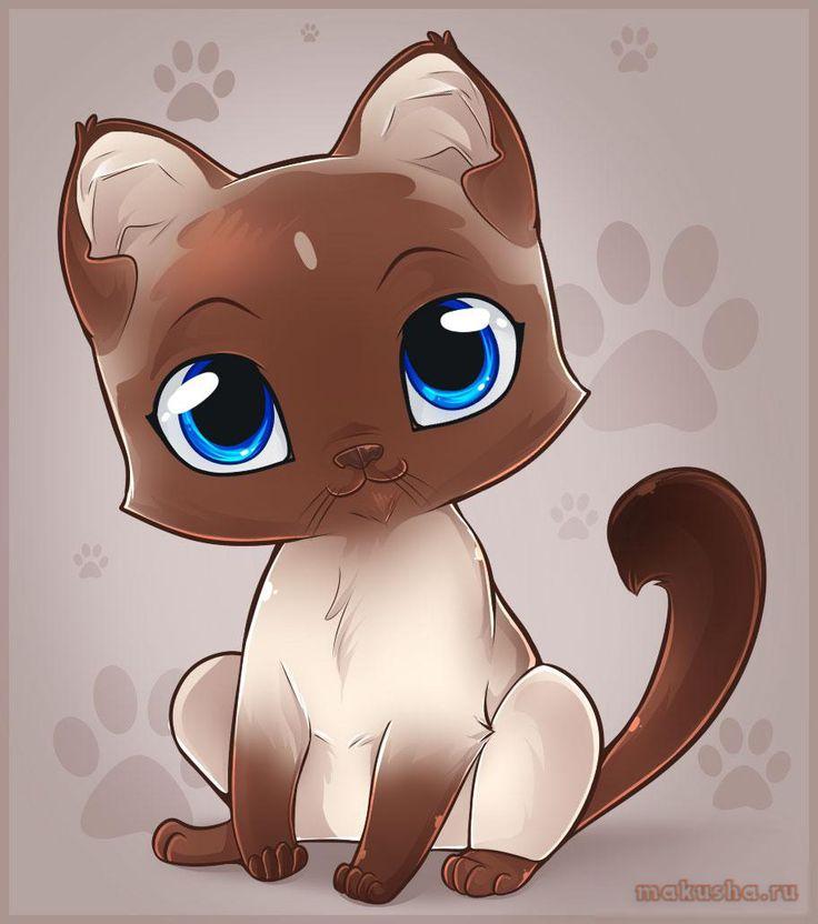 Картинки кошка мультяшных