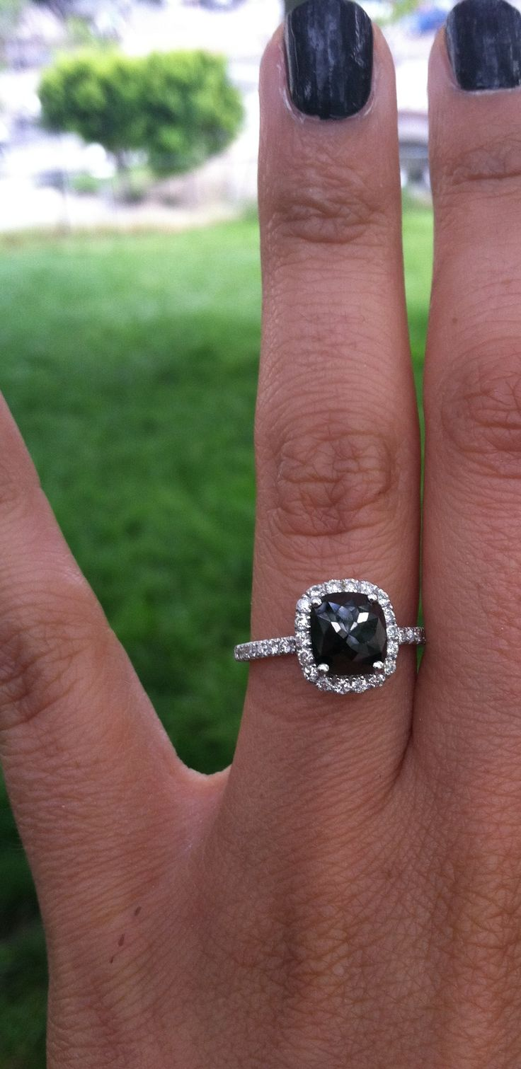 Black Diamond Engagement ring | Rings/dresses | Pinterest ...