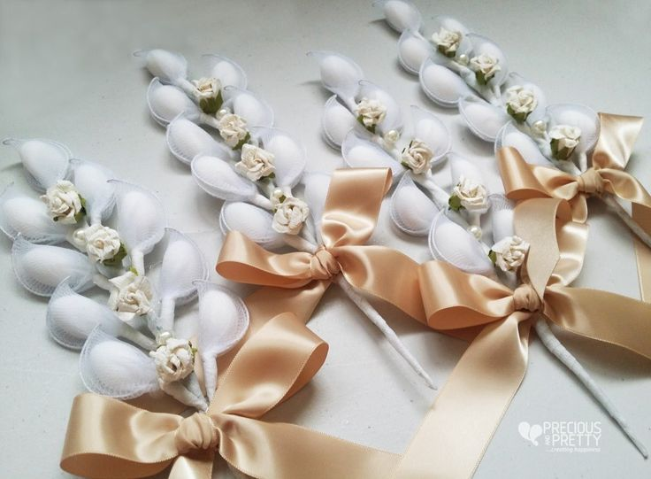 Vintage style wedding favors #gamos #wedding #bombonieres #favors #vintage #romantic #roses