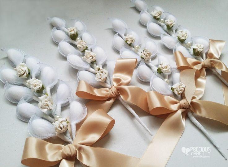 Vintage style wedding favors #gamos #wedding #bombonieres #favors #vintage #romantic #roses