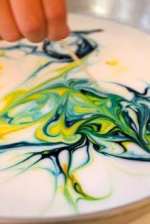 Milk + food coloring= milk art