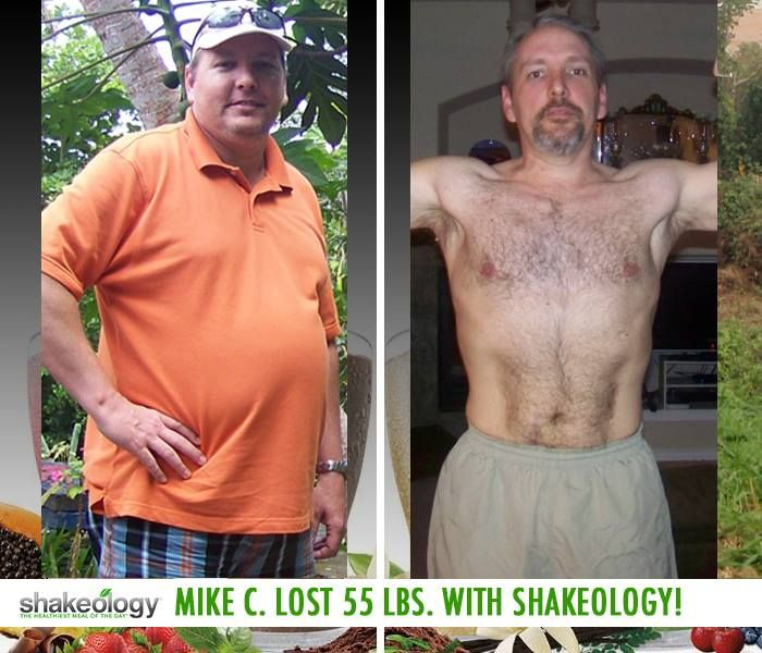 "Does Shakeology work? Check this out... Mike C. lost 55 lbs with Shakeology! He had the following to say: ""I loved the different recipes. I get tired of repeats of any food, but with Shakeology, I could go a month and never have the same flavor twice."" http://www.onesteptoweightloss.com/shakeology-results #ShakeologyResults"