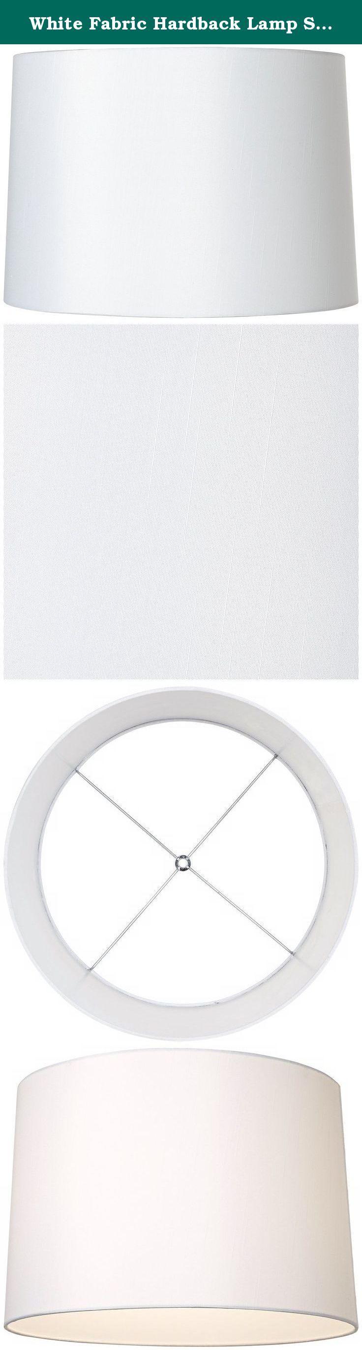 Table lamp harp sizes - White Fabric Hardback Lamp Shade 15x16x11 Spider This White Polyester Fabric Hardback Drum