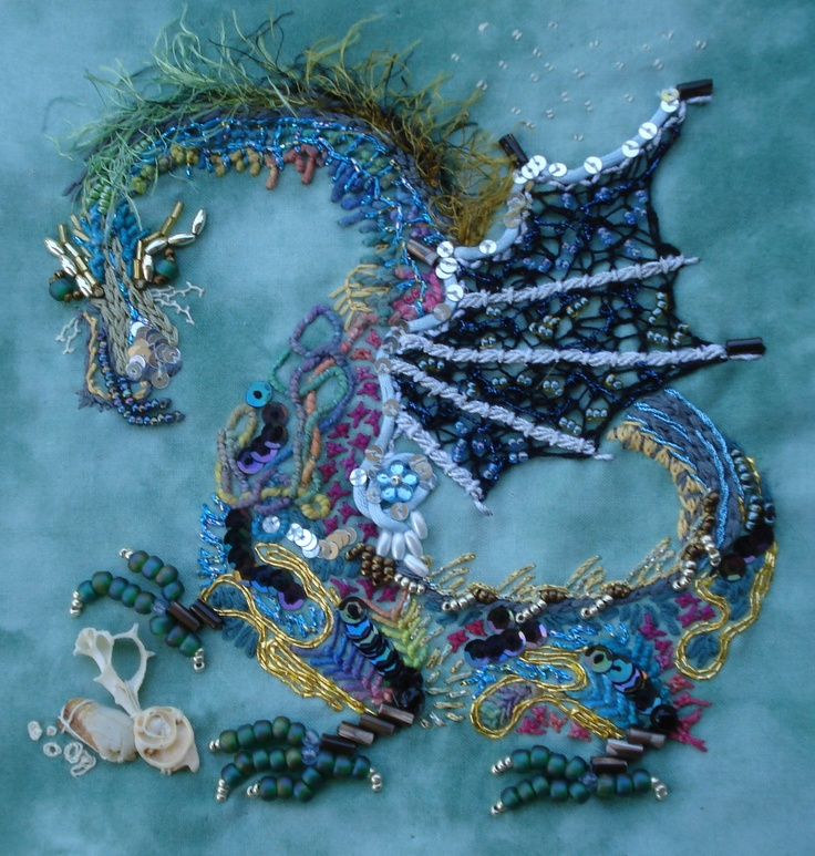 Embroidered Dragon by Marion Weber -  I love this one especially!!