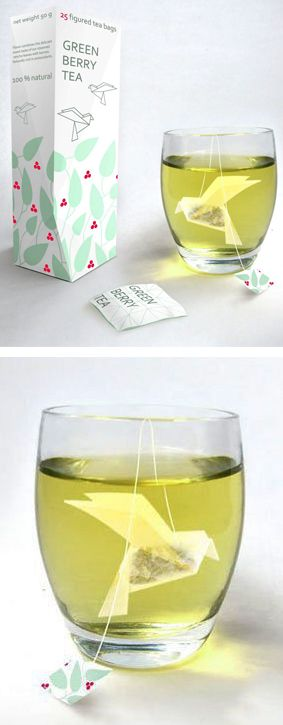 Origami Tea Bag #product #packaging #design