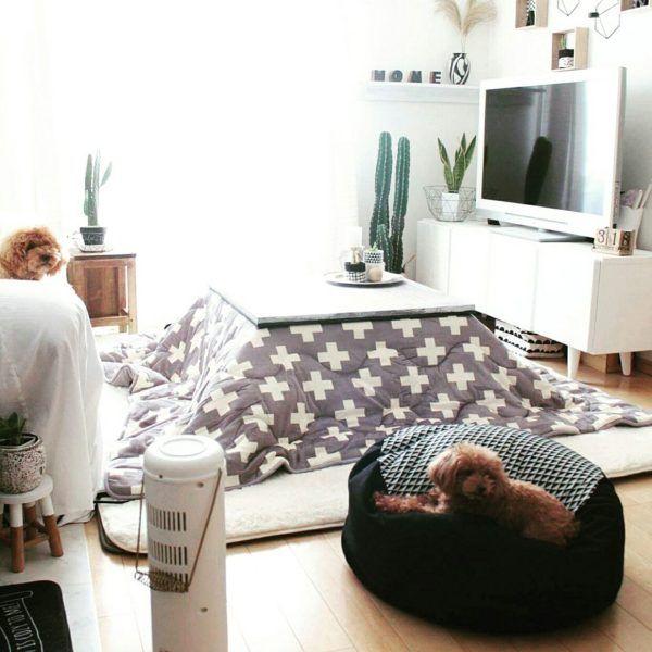 冬本番!インテリアにマッチしたこたつ布団やこたつカバーのあるお部屋 ... 出典:http://roomclip.jp