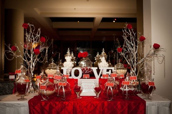 Red and Silver Candy Buffet - Style My Celebration www.stylemycelebration.com.au