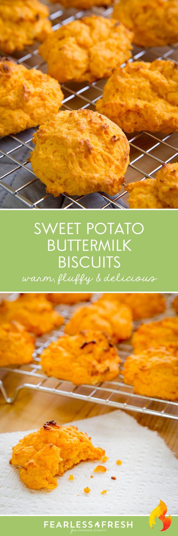 A Lovely Sweet Potato Biscuits Recipe on https://fearlessfresh.com/sweet-potato-biscuits-recipe/
