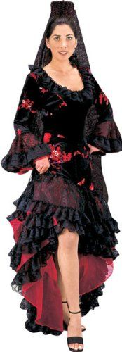 Women's Small Black Spanish Dancer Costume Dress, If you enjoy historical…
