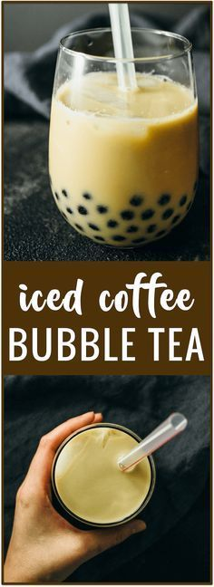 Iced coffee bubble tea recipe - Here's my recipe for classic bubble tea (boba): brewed coffee with milk and tapioca pearls, served chilled over ice.
