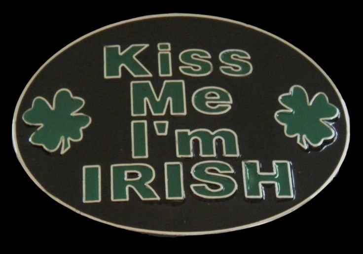 Ireland Irish Tradition Celtic Green Shamrock Kiss Funny Big Belt Buckle…