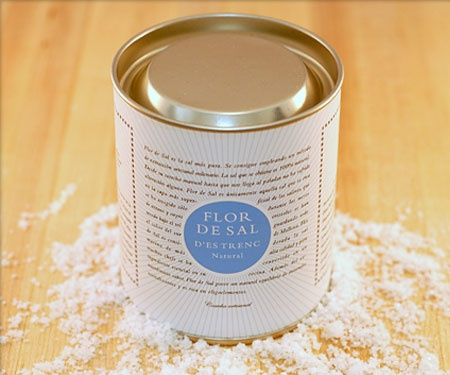 "Flor de Sal d'Estrenc Natural Sea Salt from Mallorca.  Available in our ""Chef Suitcase."""