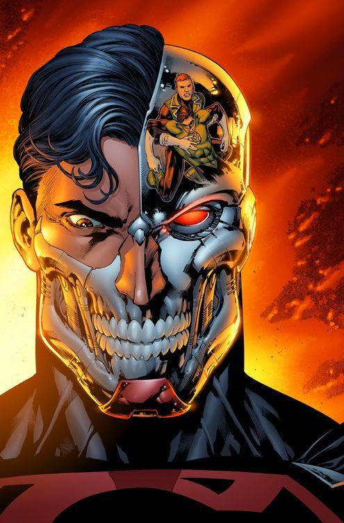 Cyborg Superman vs. The Green Lanterns
