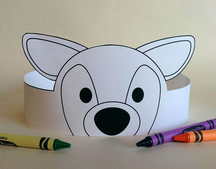 Deer Crown COLOR YOUR OWN  Printable