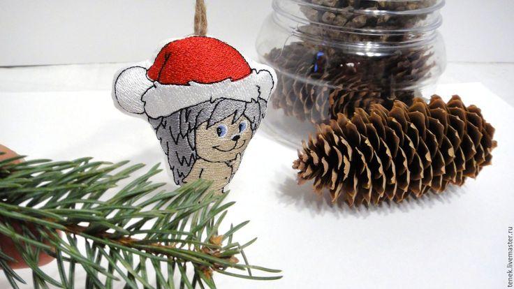 Купить Елочные украшения Небьющиеся игрушки Ежик Вышитый Новогодний сувенир - новогоднее украшение