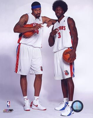 ben wallace pistons | Rasheed Wallace & Ben Wallace Pistons 8X10 Photo LIMITED STOCK NO ...