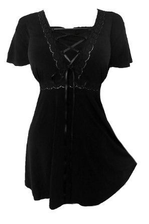 Amazon.com: Dare To Wear Victorian Gothic Women's Plus Size Angel Corset Top: Clothing