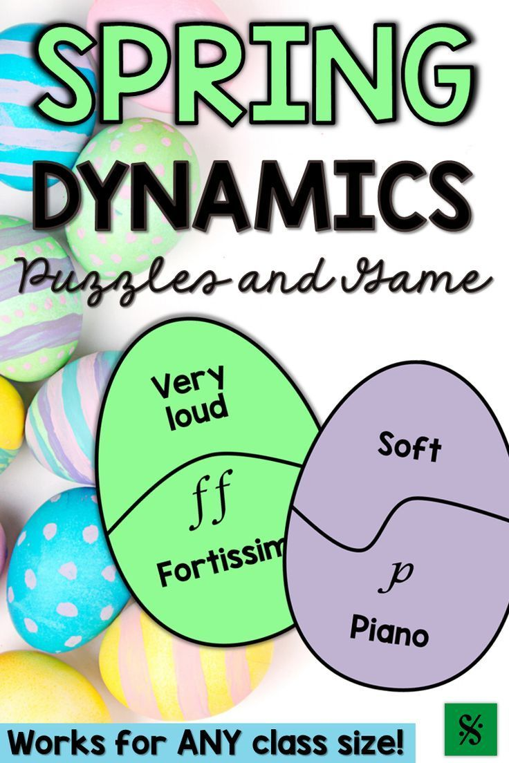Spring Music Games & Easter Music Activities - Dynamics | Spring