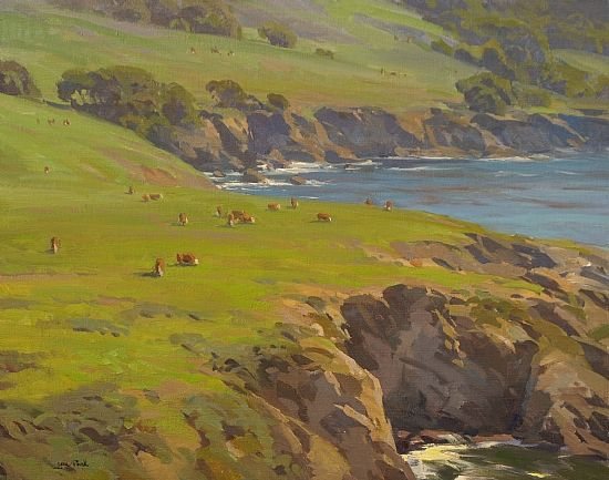 Jesse Powell - Rocky point Cattle- Oil - Painting entry - March - April 2009 | BoldBrush Painting Competition