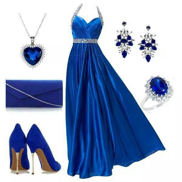 Vestido azul noche outfit
