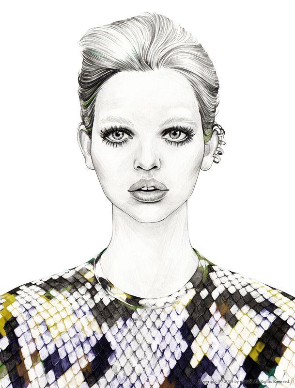 Sleek_ Daphne / mina k illustration / minak.kr