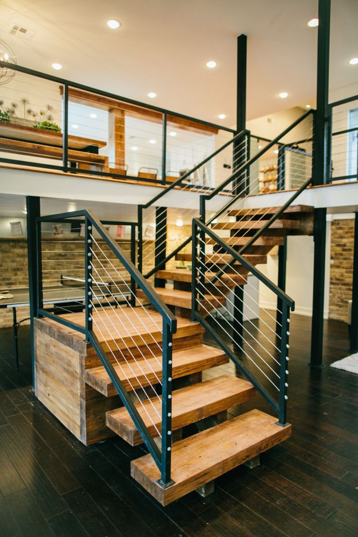 Our Favorite HGTV Fixer Upper Interior Design Moments! Wood StairsMetal  Handrails ...