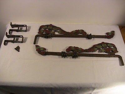 Antique Decorative Cast Iron Curtain Rods #2 SwingOut Adjust ...