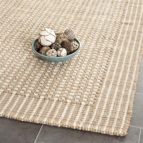 Natural Fiber Area Rug in Ivory and Beige design by Safavieh