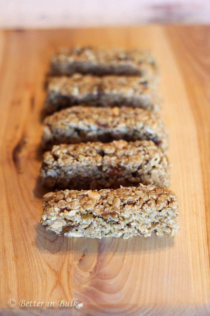 Chewy cinnamon raisin granola bars recipe by Better in Bulk