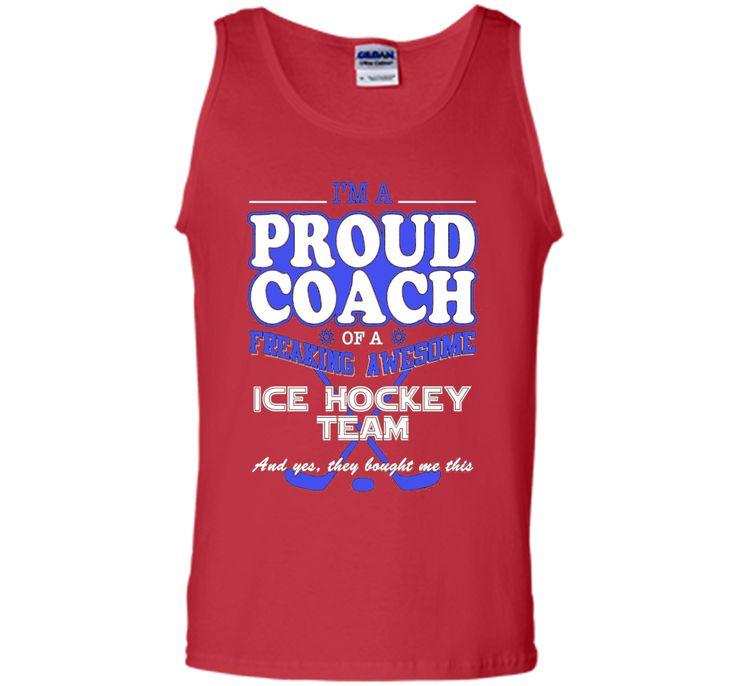 Proud Ice Hockey Coach T Shirt