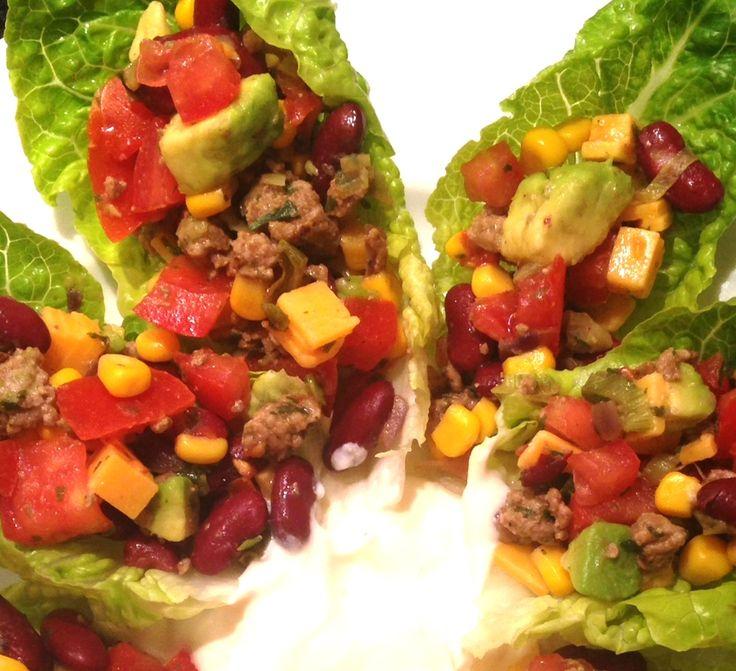 Mexikanische Salat-Wraps