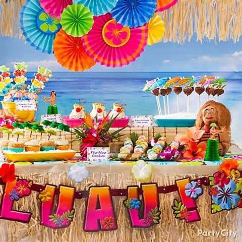 Sweet Ideas For Luau Party Treats