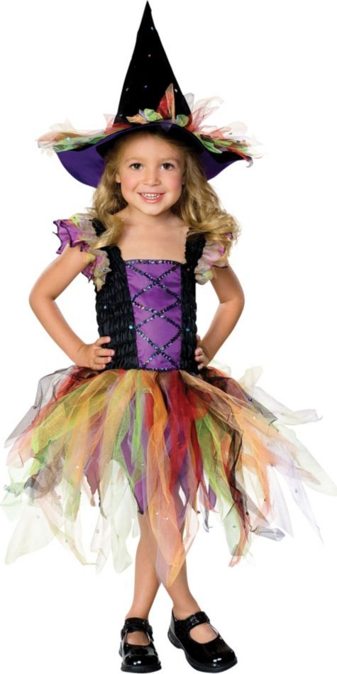 toddler girls glitter witch costume party city