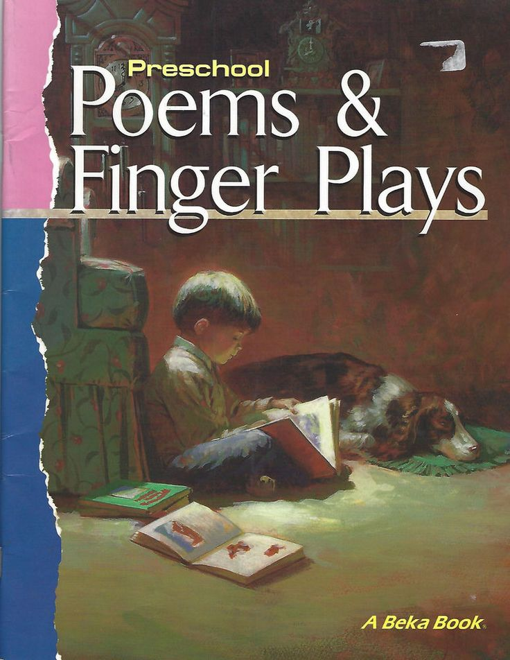 A Beka Preschool Poems & Finger Plays Book Abeka Homeschool  | eBay