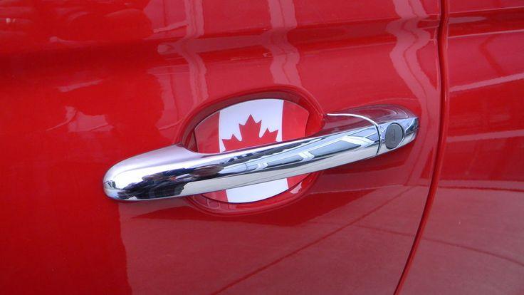 Flag Of Canada Auto Accessory Car Door Handle Scratch