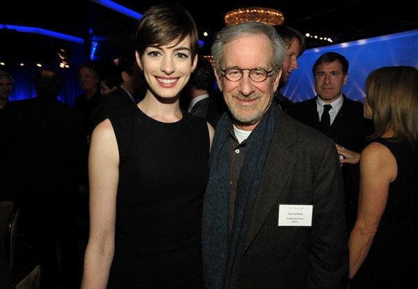 85th Academy Awards Nominees Anne Hathaway and Steven Spielberg