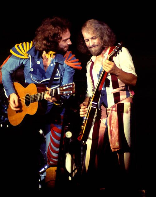 jethro tull ian anderson and martin barre august 10 1976 dallas texas by neal grillot. Black Bedroom Furniture Sets. Home Design Ideas