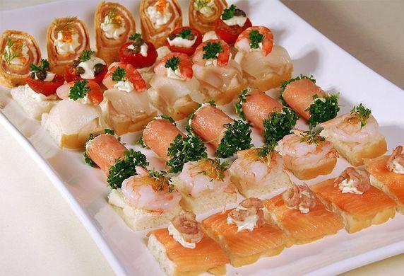 Gezonde hapjes met vis