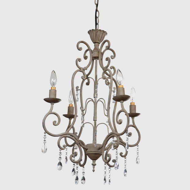 The 25 best metal chandelier ideas on pinterest mediterranean romantic metal chandelier with crystals mozeypictures Image collections