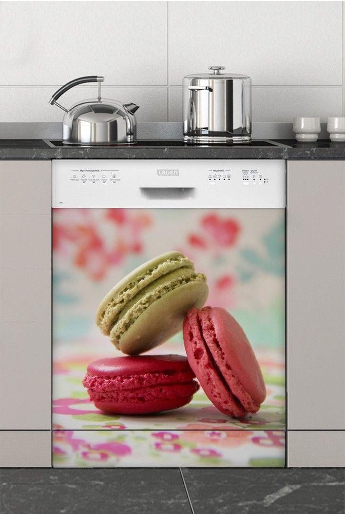 Macarons Délices : sticker lave-vaisselle#sticker #électroménager #deco #intérieur #papierpeint #surmesure #peinture #graphisme #wallpaper #lavevaisselle