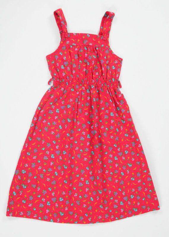 Girls Vintage Mothercare fruit print by PeachandLoveVintage, £15.00