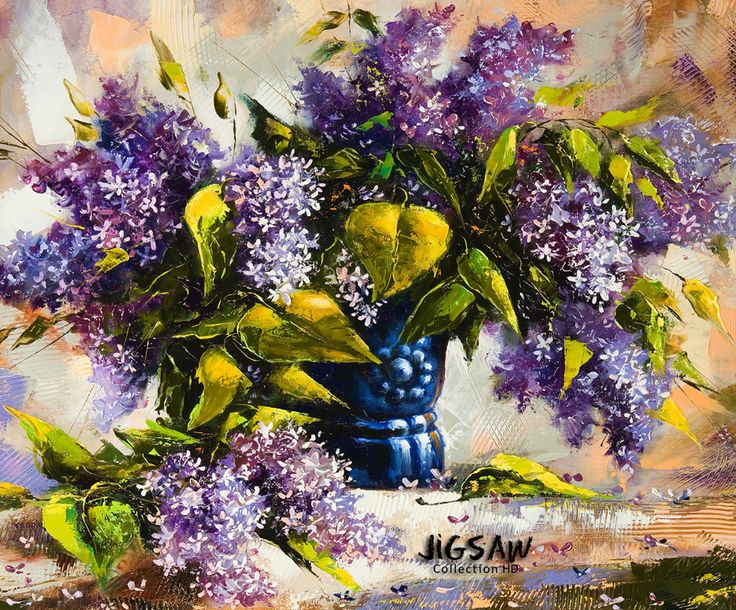 """Embrace the elegant grace of these colorful canvas and enjoy their timeless beauty with our """"Oil Paintings"""" jigsaw puzzle pack."""