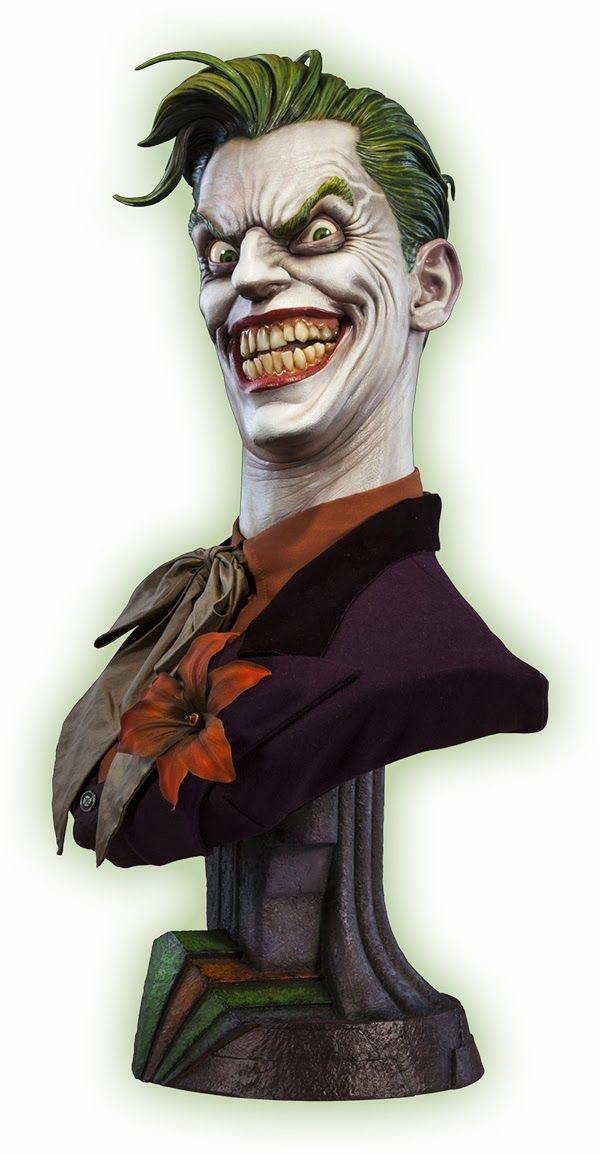 Busto incrível 1:1 The Joker (Coringa) da Sideshow Collectibles   SuperVault